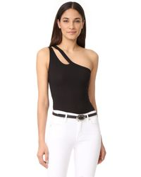 LNA - Black Studio Bodysuit - Lyst