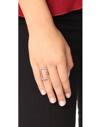 Alexis Bittar - Multicolor Crystal Encrusted Link Ring - Lyst