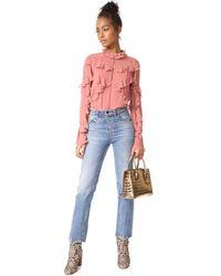Nicholas - Pink Ruffle Layered Blouse - Lyst