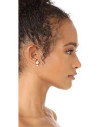 Kate Spade - Metallic Double Bauble Stud Earrings - Lyst
