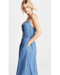 Madewell - Blue Indigo Cutout Cami Dress - Lyst