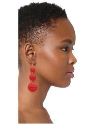 Kenneth Jay Lane - Red Triple Tier Drop Earrings - Lyst