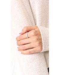 SHAY - Metallic 18k 3 Sided Diamond Eternity Ring - Lyst