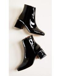 LOQ - Black Lazaro Square Toe Booties - Lyst