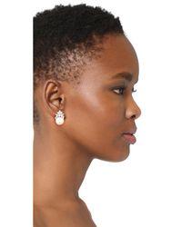 Ben-Amun - Metallic Crystal Pearl Earrings - Lyst
