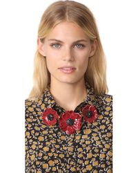 Kate Spade - Red Precious Poppies Statement Necklace - Lyst