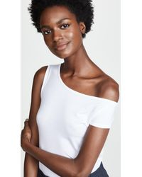 Enza Costa - White Asymmetrical Top - Lyst