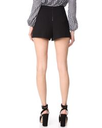 Alice + Olivia - Black Larissa Shorts - Lyst