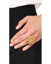 Oscar de la Renta - Metallic Crystal Hedgehog Ring - Lyst