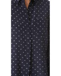 Vince | Blue Refined Dot Slim Shirt | Lyst