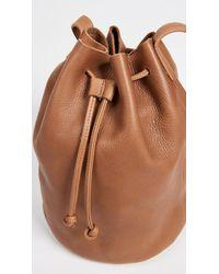 Baggu - Brown Drawstring Bucket Bag - Black - Lyst