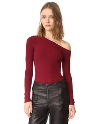 Getting Back to Square One | Red One Shoulder Pullover | Lyst