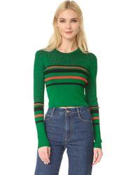 Diane von Furstenberg - Green Long Sleeve Pullover - Lyst