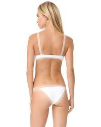 L*Space | White Farrah Colorblock Bikini Top | Lyst