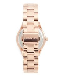 Michael Kors - Metallic Mini Slim Runway Watch - Lyst