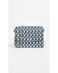 Tory Burch - Blue Robinson Printed Shoulder Bag - Lyst