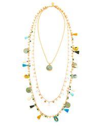 Tory Burch - Metallic Tassel Layering Necklace - Lyst
