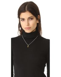 Maya Magal | Metallic Bar Charm Necklace | Lyst