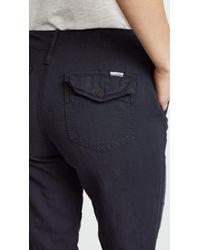 Mother - Black The No Zip Misfit Pants - Lyst