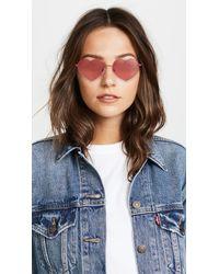 Quay - Red Heart Breaker Sunglasses - Lyst