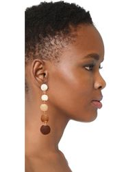 Shashi - Brown Tilda Earrings - Lyst