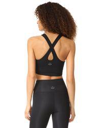 Beyond Yoga - Black Knit Down Studio Bralette - Lyst