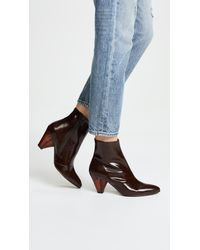 Free People - Brown Aspect Heel Boots - Lyst