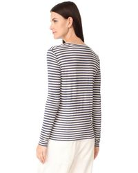 Vince - Multicolor Long Sleeve Tee - Lyst