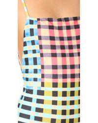 Mara Hoffman | Multicolor Plaid Mustard High Cut One Piece | Lyst