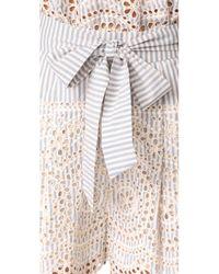 Zimmermann - Blue Meridian Stripe Shorts - Lyst