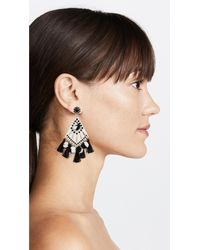 Rebecca Minkoff - Black Cha-cha Statement Earrings - Lyst