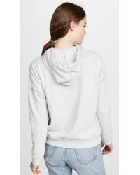 ATM - Blue Dropped Shoulder Hoodie - Lyst