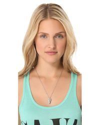 Pamela Love - Metallic Mini Arrowhead Pendant Necklace - Lyst