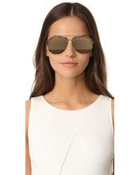 3.1 Phillip Lim | Multicolor Mirrored Aviator Sunglasses | Lyst