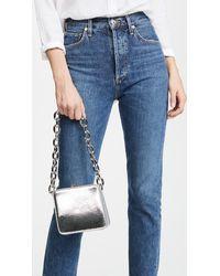 The Volon - Metallic Textured-leather Shoulder Bag - Lyst