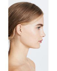 Rebecca Minkoff - Metallic Baby Heart Stud Earrings - Lyst