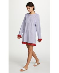 Tory Burch - Blue Tassel Cover Up Tunic - Lyst