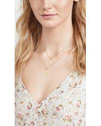 Kate Spade   Metallic Letter Pendant Necklace - R   Lyst