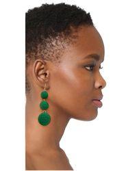 Kenneth Jay Lane - Carnival Triple Drop Earrings/green - Lyst