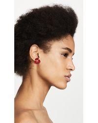 Shashi - Red Irene Stud Earrings - Lyst
