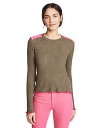 Rag & Bone - Green Rowan Crew Sweater - Lyst