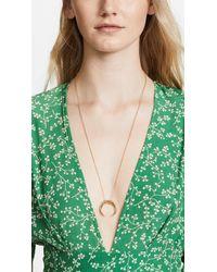 Gorjana - Metallic Cayne Crescent Pendant Necklace - Lyst