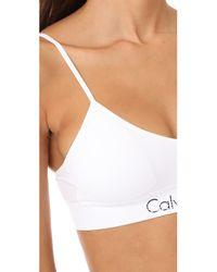 CALVIN KLEIN 205W39NYC - White Horizon Bralette 2 Pack - Lyst