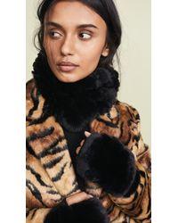 Jocelyn - Black Rex Rabbit Cowl Infinity Scarf & Mitten Set - Lyst
