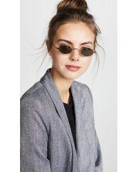 ROBERI AND FRAUD Metallic Doris Sunglasses