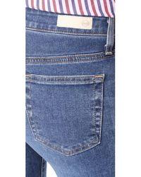 AG Jeans - Blue The Farrah Ankle Skinny Jeans - Lyst