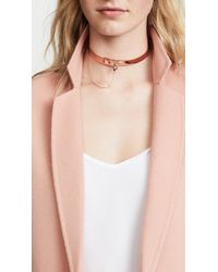 Eddie Borgo - Metallic Small Safety Chain Choker Necklace - Lyst