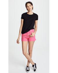 Rag & Bone - Pink Justine Shorts - Lyst