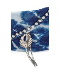 DANNIJO - Blue Adira Bandana Necklace - Lyst