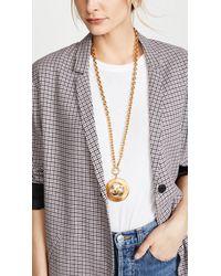 What Goes Around Comes Around - Metallic Chanel Cc Sunburst Necklace - Lyst